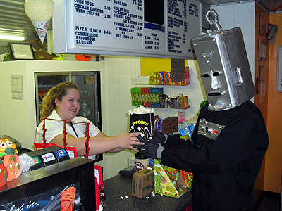 Even robots love popcorn!